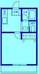 コーポサンライフII[1階]の間取り