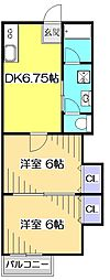 ベーネ13[1階]の間取り