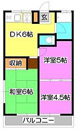 第参聖山荘[2階]の間取り