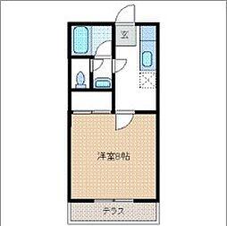 トヤマハイツIII[1階]の間取り