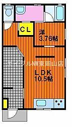 [テラスハウス] 岡山県赤磐市河本丁目なし の賃貸【/】の間取り