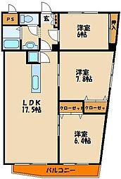 岸本マンション[5階]の間取り