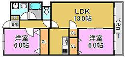 ヴェールクレール[3階]の間取り