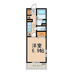南海線 和歌山市駅 バス8分 小松原5丁目下車 徒歩4分の賃貸アパート 1階1Kの間取り