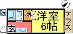 第2稲葉コ−ポ[101号室]の間取り