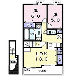 東老原1丁目アパート[2階]の間取り