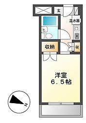 カルム亀島[4階]の間取り