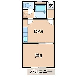 シャンティイ中ノ島[2階]の間取り