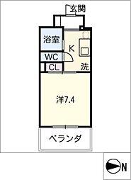 ハイム伝馬町[9階]の間取り