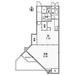 サンフローラ丸太町[4階]の間取り