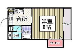 サンシャイン田代2[312号室]の間取り
