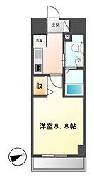 エステムプラザ名古屋栄プレミアム[10階]の間取り