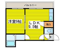 北海道札幌市東区北二十一条東22丁目の賃貸アパートの間取り