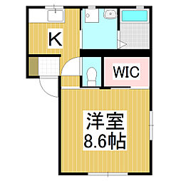 カーサYOU[2階]の間取り