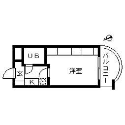 エマーレ中野新橋[0401号室]の間取り