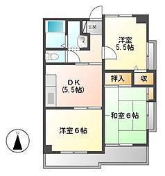 ベルドミール葵21[2階]の間取り