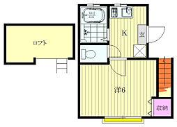 マインドハウス[203号室]の間取り