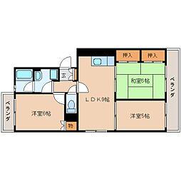静岡県静岡市葵区羽高の賃貸マンションの間取り