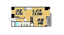 福岡県北九州市小倉北区片野新町3の賃貸マンションの間取り