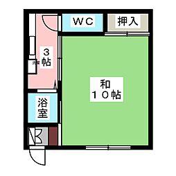 ハイツ飯田[2階]の間取り