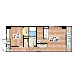 西田中ヒルズ[2階]の間取り