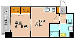 FUSHI BLD[4階]の間取り