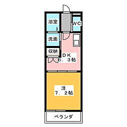 メゾン・ルフレ[1階]の間取り