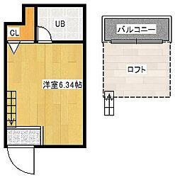 姫松マンション[1階]の間取り