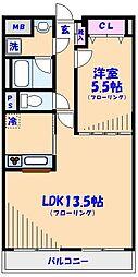 SATOMI-1番館[2階]の間取り