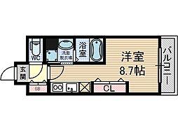 フェリーズ茨木[8階]の間取り