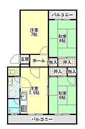 平塚ニューライフ4号棟[207号室]の間取り