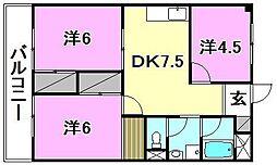 メゾン和泉(和泉北)[203 号室号室]の間取り