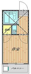 サンハウスマツオ 205号室[205号室号室]の間取り