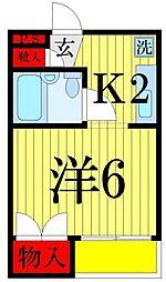 マ・メゾンアヤセ[203号室]の間取り