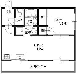 Casa Polaris(カーサポラリス)[2階]の間取り