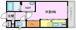 パルファン鳳[3階]の間取り