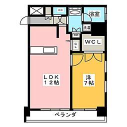 FIRST RESIDENCE SAKAE[5階]の間取り