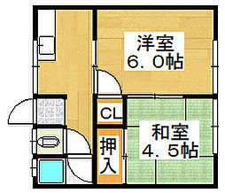 庄田ハイツ[2階]の間取り