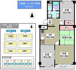 千島第一コーポ[2階]の間取り
