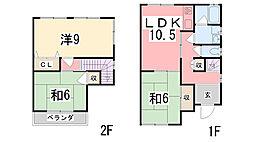 [一戸建] 兵庫県姫路市御立東 の賃貸【兵庫県 / 姫路市】の間取り