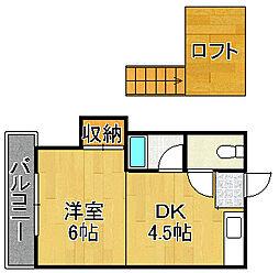 レガーロ黒崎I[206号室]の間取り
