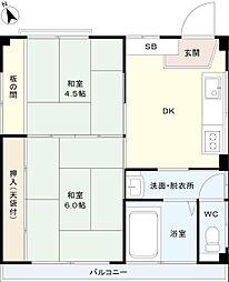 伊志井マンション[2階]の間取り