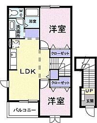 クレスト・ユー[2階]の間取り