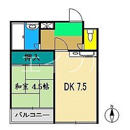 VILLA K−2[3階]の間取り