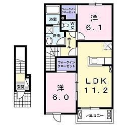 エヌシーII[2階]の間取り
