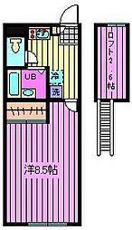 メインシティガーデン壱番館[1階]の間取り