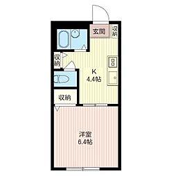 サニーハイム[3階]の間取り