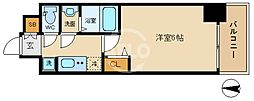 ララプレイス大阪新町ヴェレ 7階1Kの間取り