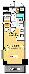 クローバー御幣島5階Fの間取り画像