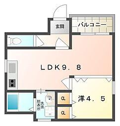 エスポアールゴンビ[2階]の間取り